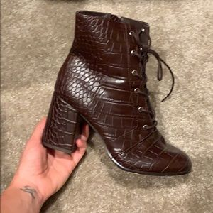 Forever 21 Shoes - Lace up booties
